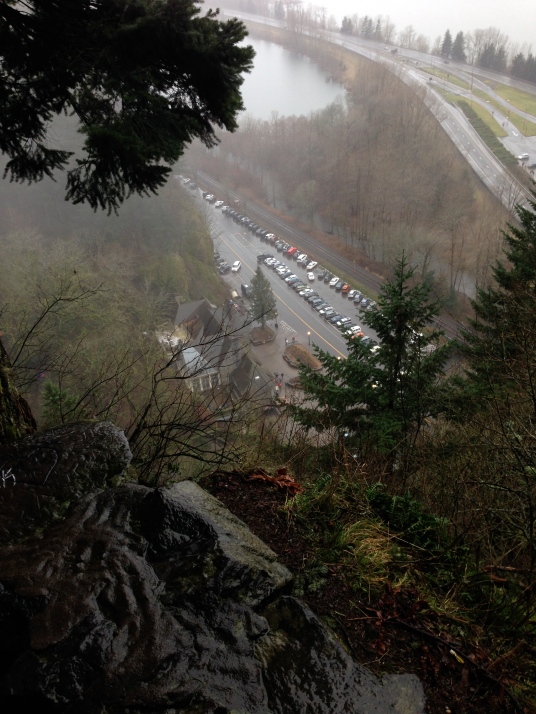 This shot was taken at the second of 11 steep, but paved switchbacks to the falls overlook.